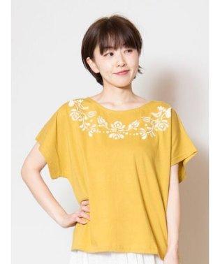 【欧州航路】カロチャ刺繍風Tシャツ LID-9105