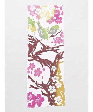 【カヤ】桜うぐいす手ぬぐい 7JRP8106