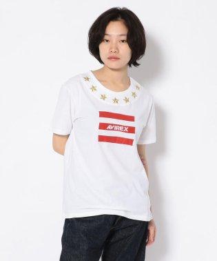 #エンブロイダリースターロゴティーシャツ/ Embroidary Star LOGO T-SHIRT