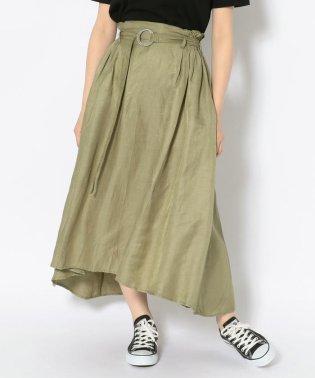 #バックギャザーサテンスカート/ BACK GATHERED SATIN SKIRT