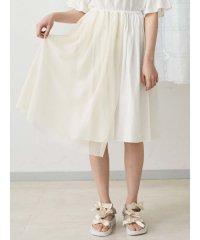 メッシュレイヤードギャザースカート