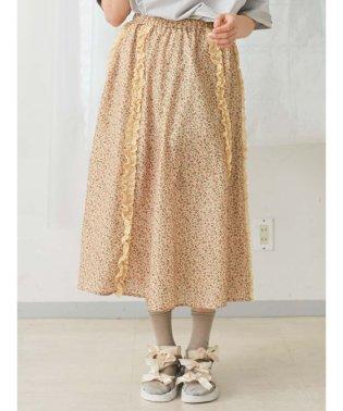 レースとお花のギャザースカート