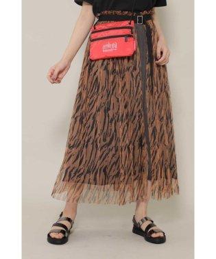 [7月号GISELe掲載]ストライププリーツレイヤードスカート