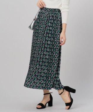ジオメトリックプリーツスカート