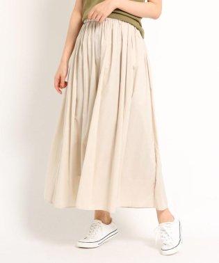 【洗える】【ウエストゴム】レーヨン混ギャザースカート