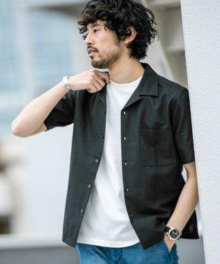 【WEB限定】フレンチリネンオープンカラーシャツ 半袖