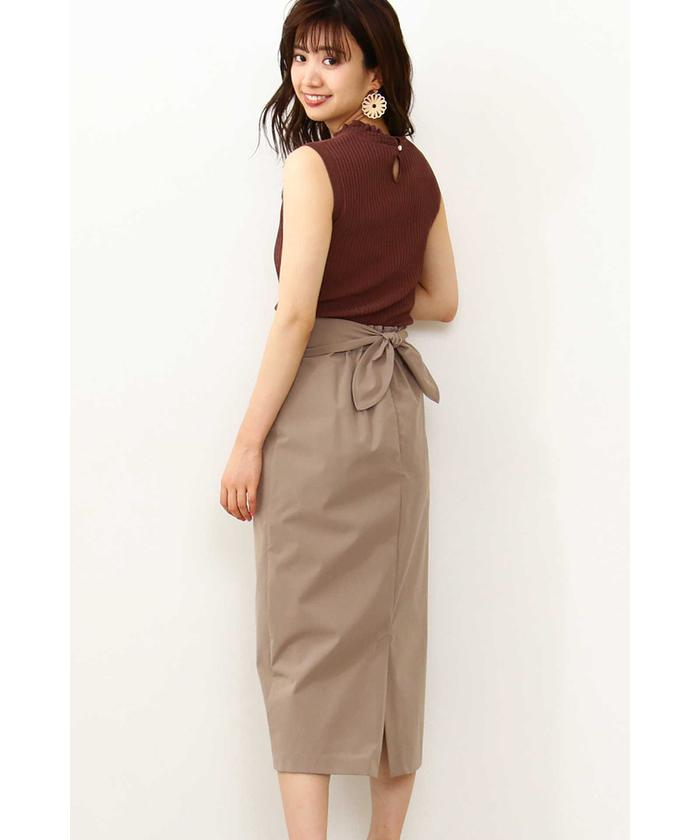 ◆リボンロングタイトスカート