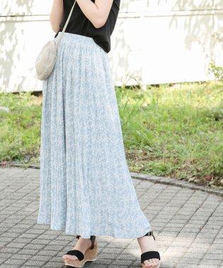 【WEB限定】小花柄プリーツロングスカート