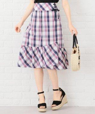 【洗える】サマーマドラスチェック スカート