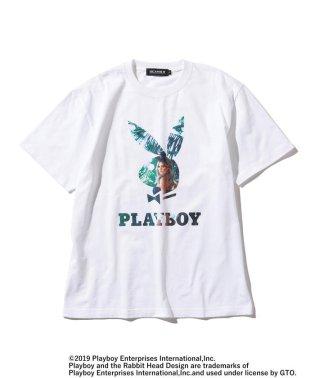 PLAYBOY × BEAMS T / 別注 RABBIT HEAD Photo T-shirt
