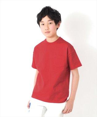 ドロップショルダーバックプリント厚手半袖Tシャツ