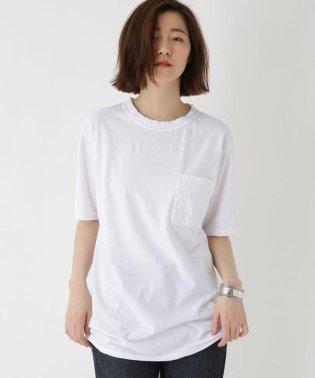 【洗える】手摘み天竺 製品染めポケットTシャツ