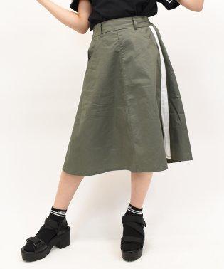サイドラインロングスカート