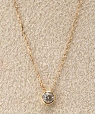 18KYG 0.1ct ダイヤモンド Fネックレス