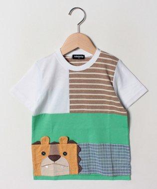 ライオンパッチワーク半袖Tシャツ