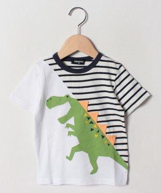 恐竜切替半袖Tシャツ