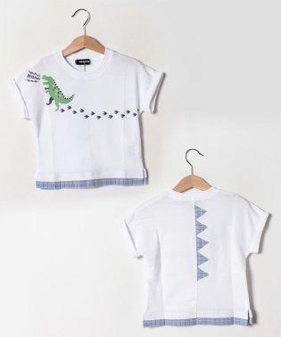 恐竜足跡半袖Tシャツ