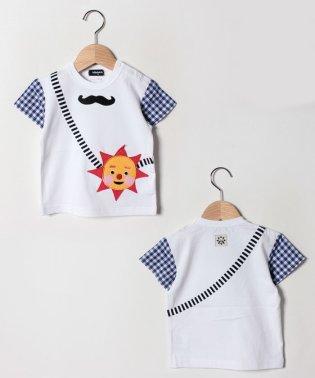 ひらめき顔ポシェット半袖Tシャツ