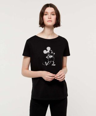 【Disney(ディズニー)コラボ】ミッキー・ミニーマウス半袖Tシャツ