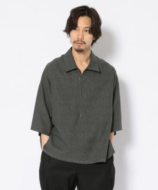 bukht/ブフト/Half Zip Pullover Shirts - Glen Check/ハーフジッププルオーバーシャツ グレンチェック