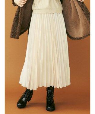 パネルカラープリーツスカート