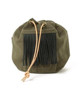 BrownBrown / フリンジ 巾着 バッグ