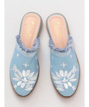 【Kahiko】花刺繍フラットサンダル 4COP9204