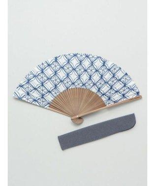 【カヤ】和の香り 菱文様紙扇子 袋付き 7HJP9206