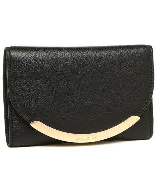 シーバイクロエ 財布 SEE BY CHLOE CHS17WP781 349 001 リジー LIZZIE レディース 三つ折り財布 無地 BLACK 黒