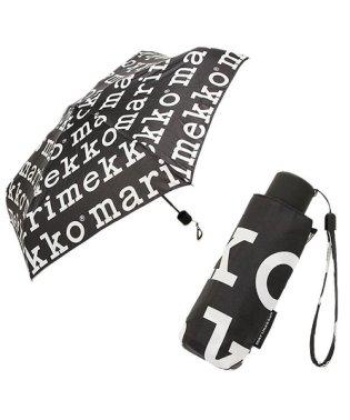 マリメッコ 傘 MARIMEKKO 041399 910 マリロゴ MARILOGO MINI MANUAL アンブレラ 折り畳み傘 BLACK/WHITE