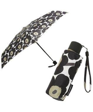 マリメッコ 傘 MARIMEKKO 038653 030 ミニ ウニッコ MINI UNIKKO MINI MANUAL  折り畳み傘 BLACK