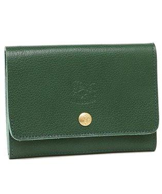 イルビゾンテ 財布 IL BISONTE C0522 P 293 メンズ/レディース 二つ折り財布 無地 VERDE 緑