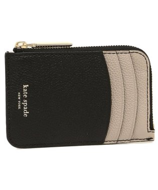 KATE SPADE PWRU7159 106 MARGAUX ZIP CARD HOLDER カードケース・コインケース BLACK/WARM TAUPE