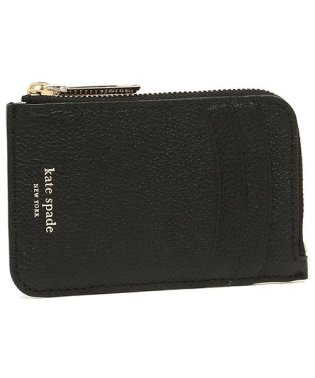 KATE SPADE PWRU7159 001 MARGAUX ZIP CARD HOLDER カードケース・コインケース 無地 BLACK 黒