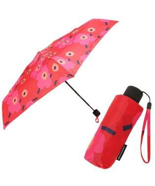 MARIMEKKO 038653 301 MINI-UNIKKO MINI MANUAL UMBRELLA 折りたたみ傘 RED/DARK RED