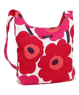 MARIMEKKO 042630 001 ウニッコ PIENI UNIKKO CLOVER レディース ショルダーバッグ 花柄 WHITE/RED 赤