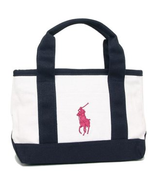 POLO RALPH LAUREN RA100117 GIRLS TOTE レディース トートバッグ 無地 WHITE/NAVY/BAJA PINK 白