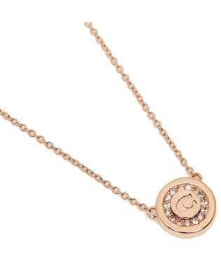 COACH F29828 RGD PAVE PENDANT NECKLACE レディース ペンダント ROSEGOLD