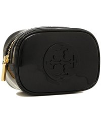 TORY BURCH 40926 001 STACKED PATENT SMALL COSMETIC CASE レディース 無地 BLACK 黒