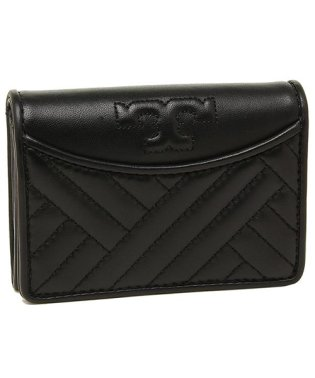 TORY BURCH 50648 001 ALEXAA FOLDABLE MINI WALLET 名刺入れ・カードケース BLACK 黒