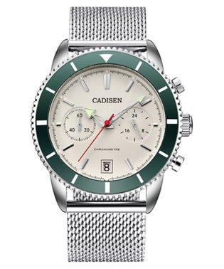 〈CADISEN/カディセン〉C9065 クロノGMT ダイバーメッシュベルト 腕時計