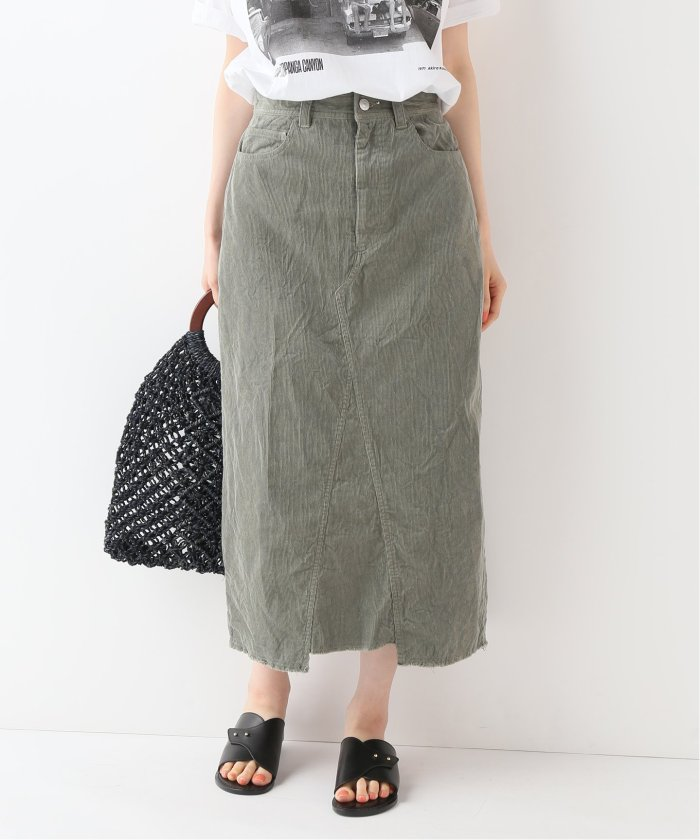 ライトサマーコールロングタイトスカート