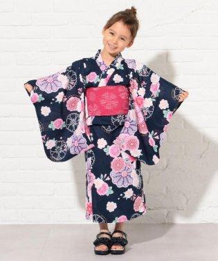 【KIDS雑貨】万寿菊と桜 浴衣