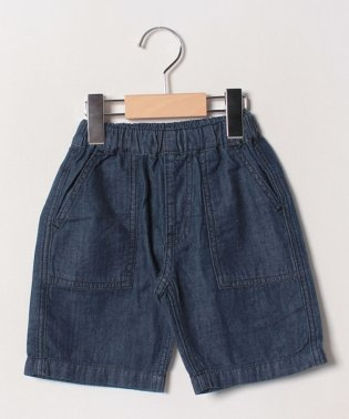 DENIM FATIGUE SHORTS