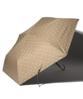 スカラップハート晴雨兼用折りたたみ傘 日傘