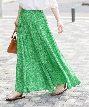 マキシフラワープリントスカート