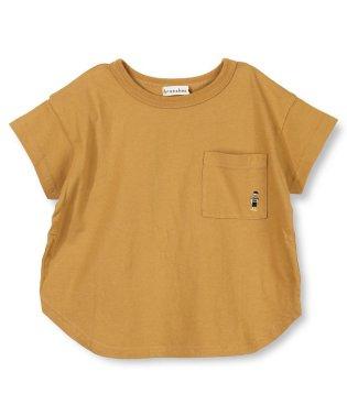 刺繍ポイント半袖Tシャツ