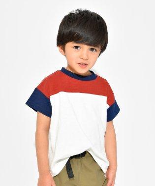配色切り替え半袖Tシャツ