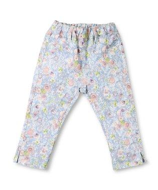 プレミアムストレッチ花柄パンツ