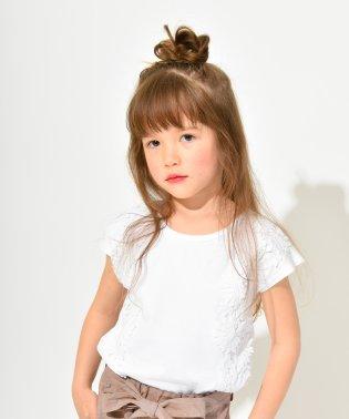 花レース半袖Tシャツ(80~150cm)